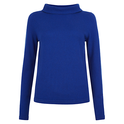 Audrey Jumper - pattern: plain; neckline: wide roll/funnel neck; style: standard; predominant colour: royal blue; occasions: casual; length: standard; fibres: wool - mix; fit: loose; sleeve length: long sleeve; sleeve style: standard; texture group: knits/crochet; pattern type: knitted - fine stitch; pattern size: standard; season: a/w 2016
