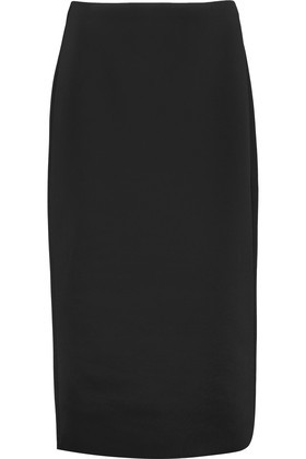 Scuba Jersey Skirt Black - length: below the knee; pattern: plain; style: pencil; fit: tailored/fitted; waist: high rise; predominant colour: black; occasions: work; fibres: polyester/polyamide - stretch; pattern type: fabric; texture group: jersey - stretchy/drapey; wardrobe: basic; season: a/w 2016