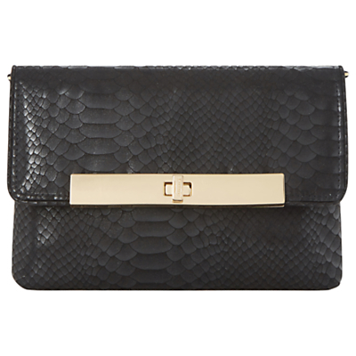 Bastille Clutch Bag, Black - predominant colour: black; occasions: evening, occasion; type of pattern: standard; style: clutch; length: hand carry; size: small; material: satin; pattern: plain; finish: plain; season: a/w 2016; wardrobe: event