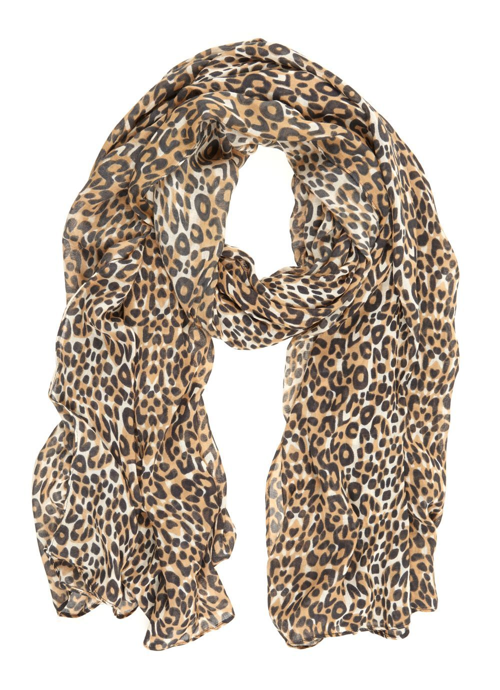 Animal Print Scarf, Multi Coloured - predominant colour: camel; secondary colour: black; occasions: casual, creative work; type of pattern: standard; style: regular; size: standard; material: fabric; pattern: animal print; season: a/w 2016; wardrobe: highlight