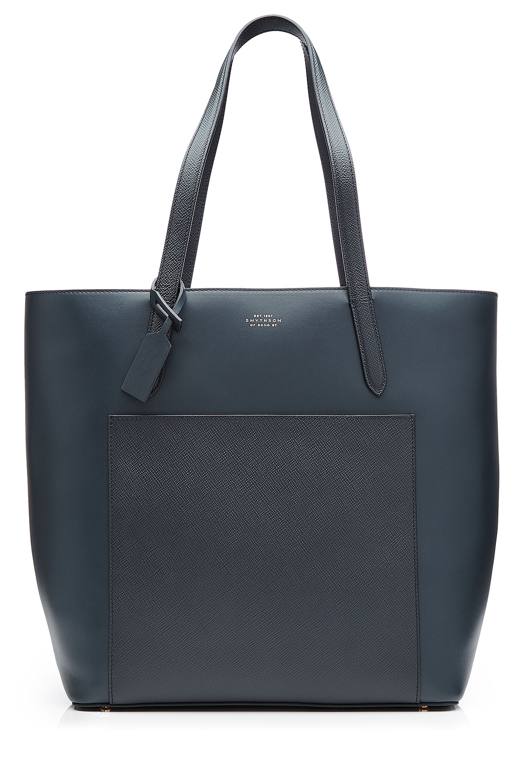 Leather North South Tote Blue - predominant colour: navy; occasions: casual; type of pattern: standard; style: tote; length: shoulder (tucks under arm); size: standard; material: leather; pattern: plain; finish: plain; wardrobe: investment; season: a/w 2016