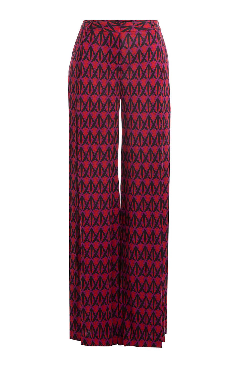 Wide Leg Printed Silk Pants Multicolor - length: standard; style: palazzo; waist: mid/regular rise; predominant colour: hot pink; secondary colour: black; occasions: casual, evening, creative work; fibres: silk - 100%; texture group: structured shiny - satin/tafetta/silk etc.; fit: wide leg; pattern type: fabric; pattern: patterned/print; multicoloured: multicoloured; season: a/w 2016