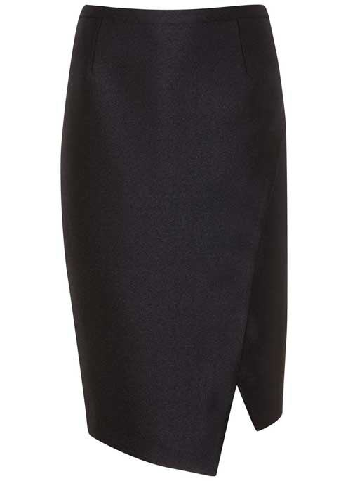 Black Metallic Pencil Skirt - length: below the knee; pattern: plain; style: pencil; fit: tailored/fitted; waist: mid/regular rise; predominant colour: black; occasions: work; fibres: polyester/polyamide - mix; pattern type: fabric; texture group: woven light midweight; wardrobe: basic; season: a/w 2016