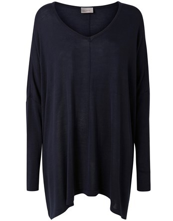 Oversized Jumper - neckline: round neck; sleeve style: dolman/batwing; pattern: plain; style: standard; predominant colour: black; occasions: casual, work, creative work; fibres: viscose/rayon - 100%; fit: loose; length: mid thigh; sleeve length: long sleeve; texture group: knits/crochet; pattern type: knitted - fine stitch; wardrobe: basic; season: a/w 2016