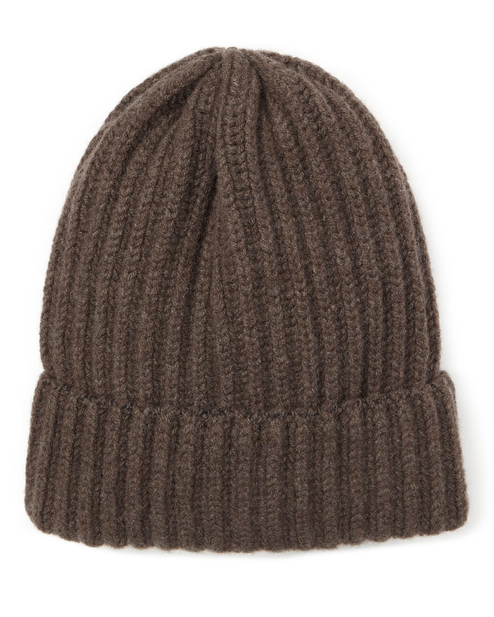 Sian Chunky Rib Knit Hat - predominant colour: chocolate brown; occasions: casual; type of pattern: standard; style: beanie; size: standard; material: knits; pattern: plain; wardrobe: basic; season: a/w 2016
