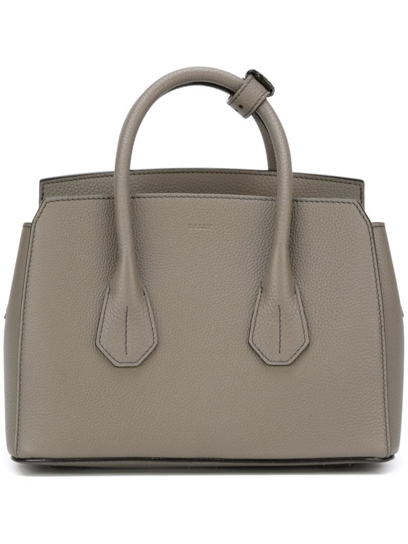 'sommet' Tote, Women's, Grey - predominant colour: mid grey; occasions: casual, work, creative work; type of pattern: standard; style: tote; length: handle; size: standard; material: leather; pattern: plain; finish: plain; wardrobe: investment; season: a/w 2016