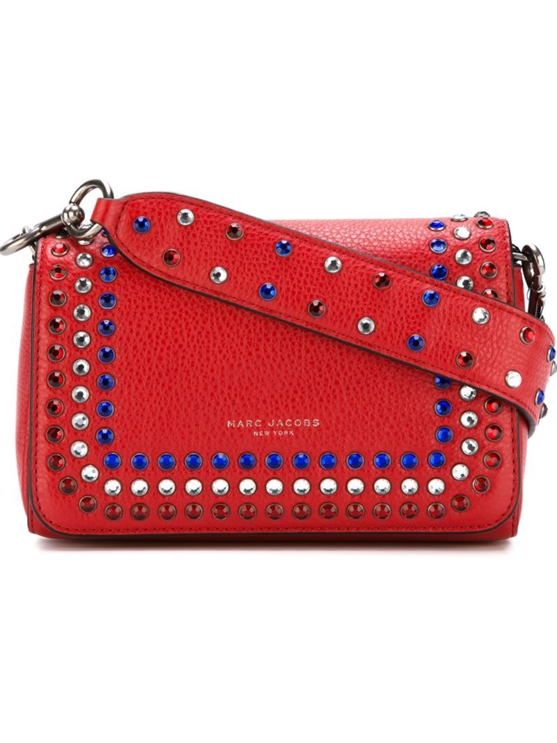 'p.Y.T.' Shoulder Bag, Women's, Red - predominant colour: true red; occasions: casual, creative work; type of pattern: standard; style: shoulder; length: shoulder (tucks under arm); size: standard; material: leather; pattern: plain; finish: plain; embellishment: jewels/stone; multicoloured: multicoloured; season: a/w 2016; wardrobe: highlight