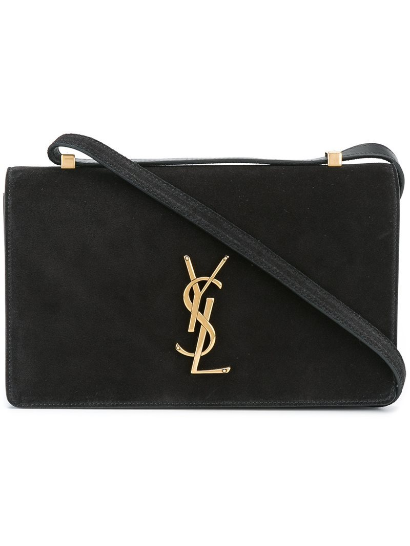 Small 'dylan Monogram' Shoulder Bag, Women's, Black - secondary colour: gold; predominant colour: black; occasions: evening, creative work; type of pattern: standard; style: shoulder; length: shoulder (tucks under arm); size: small; material: leather; pattern: monogram; finish: plain; season: a/w 2016
