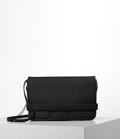 Club Large Clutch - predominant colour: black; occasions: casual, creative work; type of pattern: standard; style: clutch; length: hand carry; size: oversized; material: leather; pattern: plain; finish: plain; wardrobe: investment; season: a/w 2016