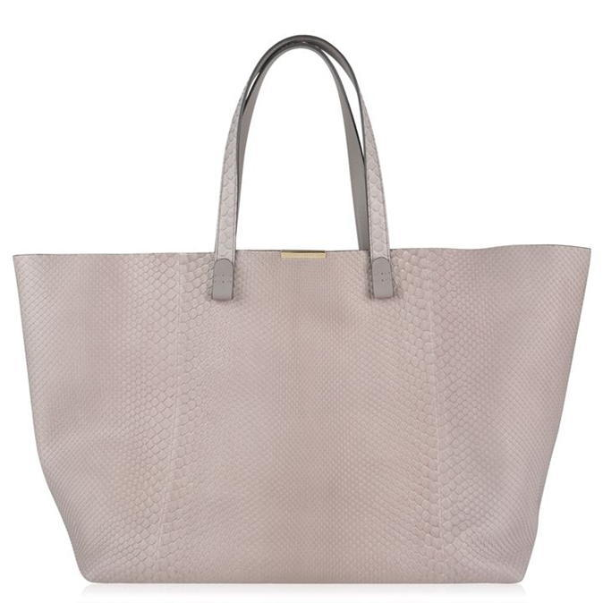Shopper Bag - predominant colour: blush; occasions: casual, creative work; type of pattern: standard; style: tote; length: handle; size: oversized; material: leather; pattern: plain; finish: plain; wardrobe: investment; season: a/w 2016