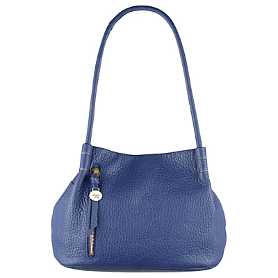 Seymour Medium Leather Shoulder Bag - predominant colour: royal blue; occasions: casual, creative work; type of pattern: standard; style: shoulder; length: shoulder (tucks under arm); size: standard; material: leather; pattern: plain; finish: plain; season: a/w 2016; wardrobe: highlight