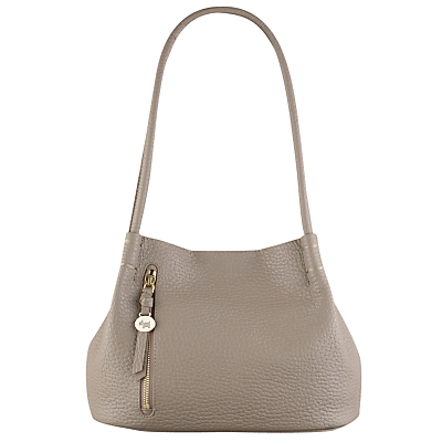 Seymour Medium Leather Shoulder Bag - predominant colour: taupe; occasions: casual, work, creative work; type of pattern: standard; style: shoulder; length: shoulder (tucks under arm); size: standard; material: leather; pattern: plain; finish: plain; wardrobe: investment; season: a/w 2016