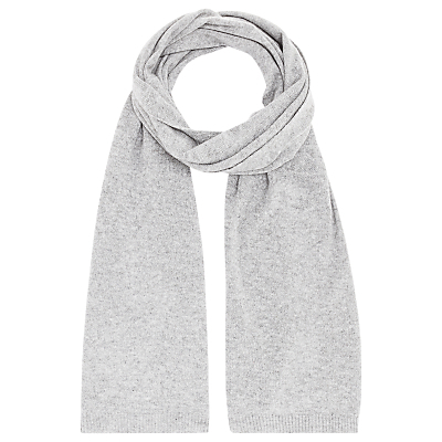Hug Cashmere Scarf - predominant colour: light grey; occasions: casual, creative work; type of pattern: standard; style: regular; size: standard; material: knits; pattern: plain; season: a/w 2016