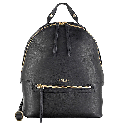 Great Eastern Street Backpack - predominant colour: black; occasions: casual, creative work; type of pattern: standard; style: rucksack; length: rucksack; size: standard; material: leather; pattern: plain; finish: plain; wardrobe: basic; season: a/w 2016