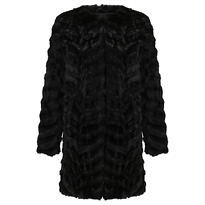 Dream Catcher Coat, Black - pattern: plain; length: below the bottom; collar: round collar/collarless; fit: loose; predominant colour: black; occasions: casual; fibres: acrylic - 100%; style: fur coat; sleeve length: long sleeve; sleeve style: standard; texture group: fur; collar break: high; pattern type: fabric; season: a/w 2016; wardrobe: highlight