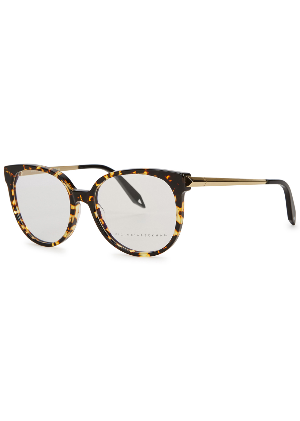Fine Oval Kitten Tortoiseshell Optical Glasses - predominant colour: camel; occasions: casual, holiday; style: round; size: standard; material: plastic/rubber; pattern: tortoiseshell; finish: plain; wardrobe: basic; season: a/w 2016