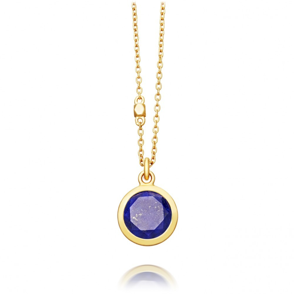 Lapis Stilla Pendant - predominant colour: gold; occasions: evening, occasion; style: pendant; length: mid; size: standard; material: chain/metal; finish: metallic; embellishment: chain/metal; season: a/w 2016; wardrobe: event
