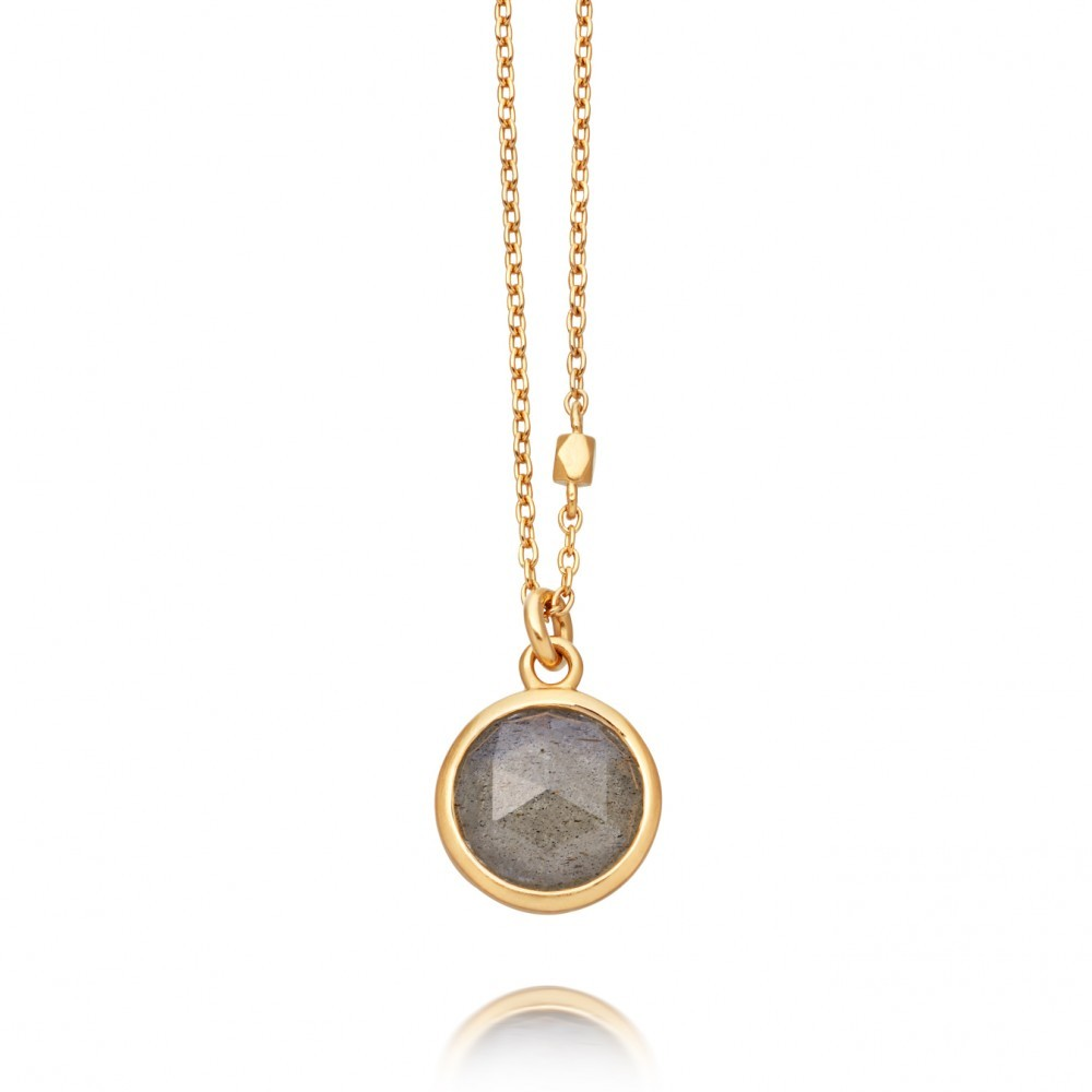 Labradorite Stilla Pendant - predominant colour: gold; occasions: evening, occasion; style: pendant; length: mid; size: standard; material: chain/metal; finish: metallic; embellishment: jewels/stone; season: a/w 2016; wardrobe: event