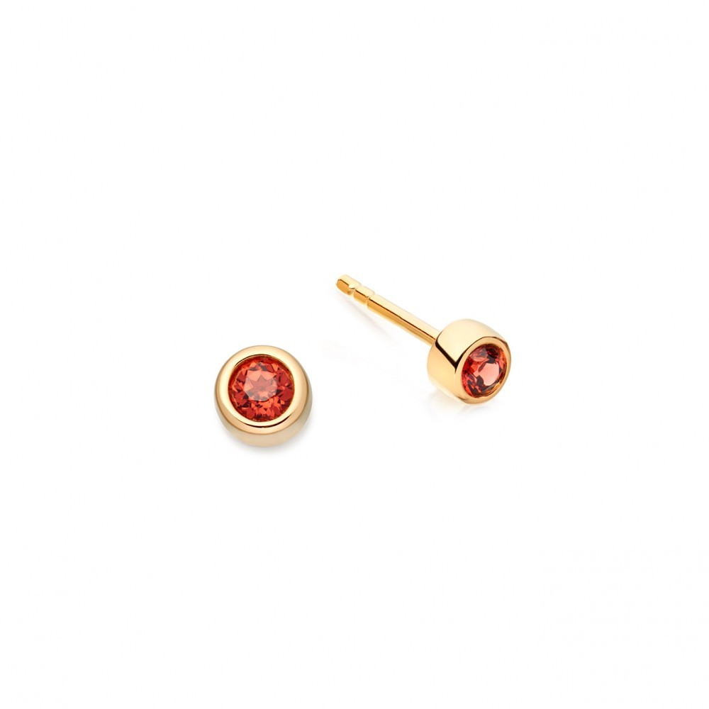 Garnet Mini Stilla Stud - predominant colour: true red; occasions: evening, occasion; style: stud; length: short; size: small/fine; material: chain/metal; fastening: pierced; finish: metallic; season: a/w 2016; wardrobe: event