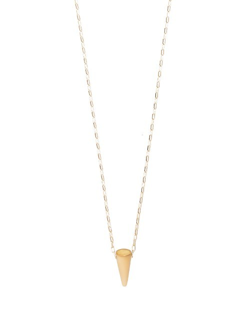 Dark Side Necklace - predominant colour: gold; occasions: evening; style: pendant; length: mid; size: standard; material: chain/metal; finish: metallic; season: a/w 2016