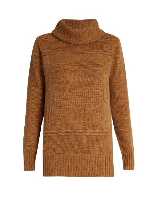 Talassa Sweater - pattern: plain; neckline: roll neck; style: standard; predominant colour: camel; occasions: casual; length: standard; fibres: wool - mix; fit: standard fit; sleeve length: long sleeve; sleeve style: standard; texture group: knits/crochet; pattern type: knitted - other; wardrobe: basic; season: a/w 2016