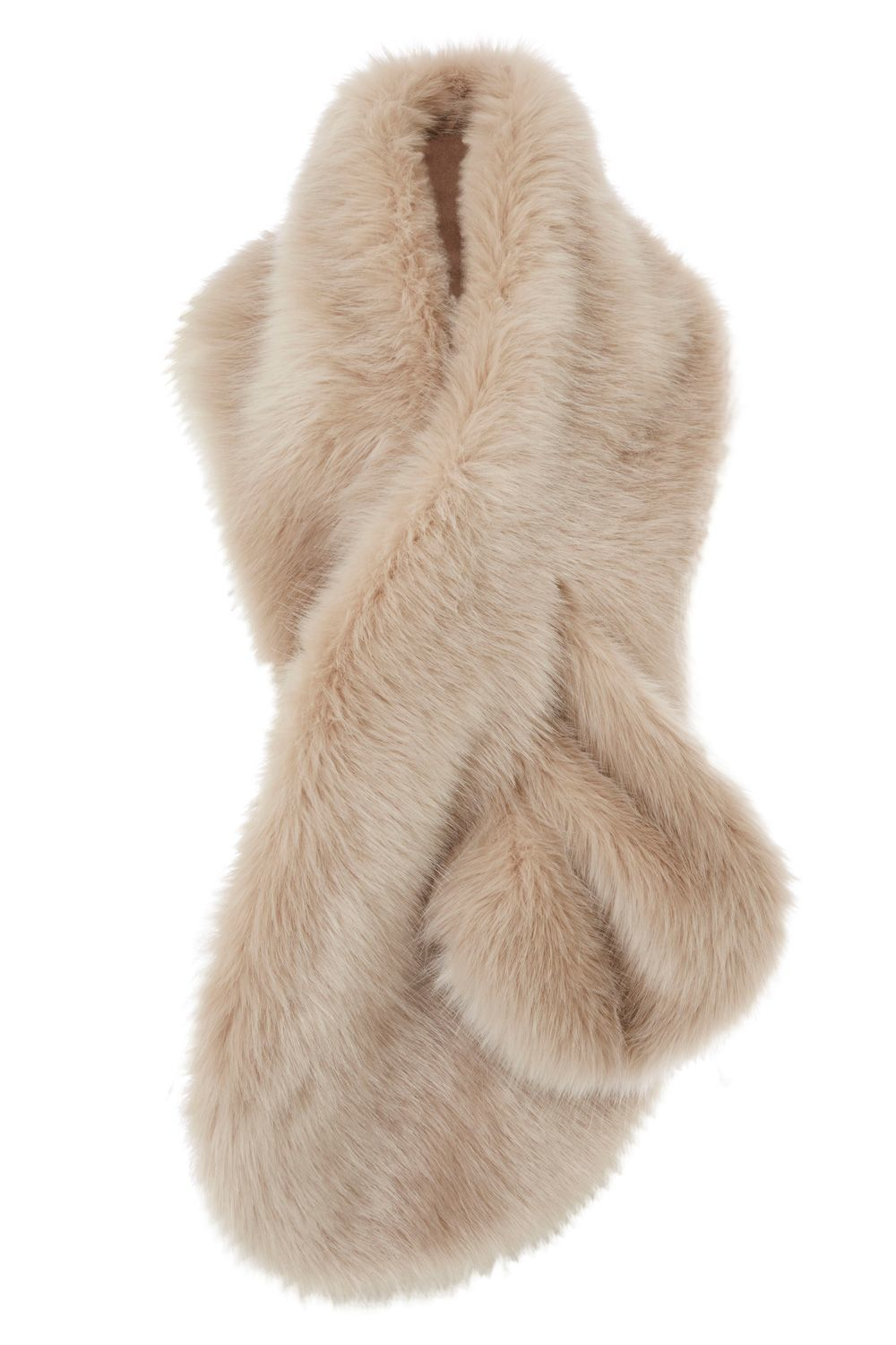 Luella Longline Fur Scarf, Blush - predominant colour: camel; occasions: occasion; type of pattern: standard; size: large; material: faux fur; pattern: plain; style: stole; season: a/w 2016; wardrobe: event