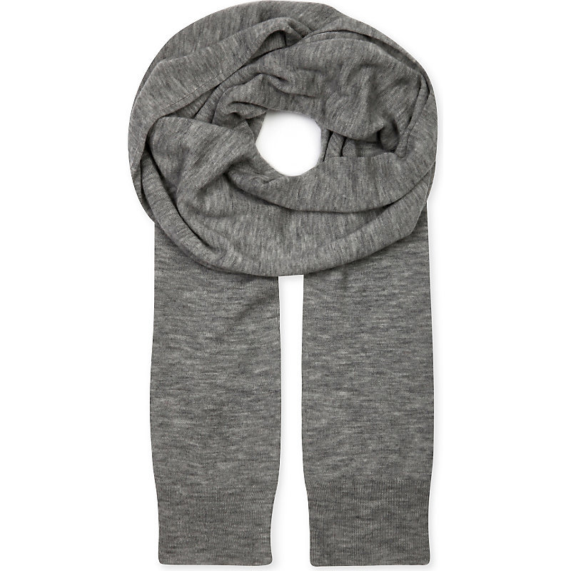 Cashair Cashmere Tube Scarf, Women's, 287 Marble - predominant colour: charcoal; occasions: casual; type of pattern: standard; style: regular; size: standard; material: knits; pattern: knit; wardrobe: basic; season: a/w 2016