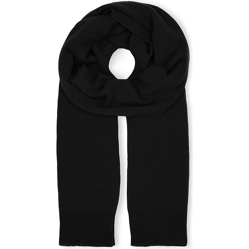 Cashair Cashmere Tube Scarf, Women's, Black/White - predominant colour: black; occasions: casual; type of pattern: standard; style: regular; size: standard; material: knits; pattern: plain; wardrobe: basic; season: a/w 2016