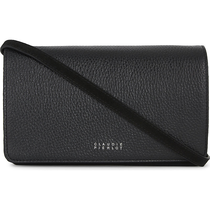 Aneta Leather Cross Body Bag, Women's, Noir - predominant colour: black; occasions: casual; type of pattern: standard; style: messenger; length: across body/long; size: small; material: leather; pattern: plain; finish: plain; wardrobe: basic; season: a/w 2016