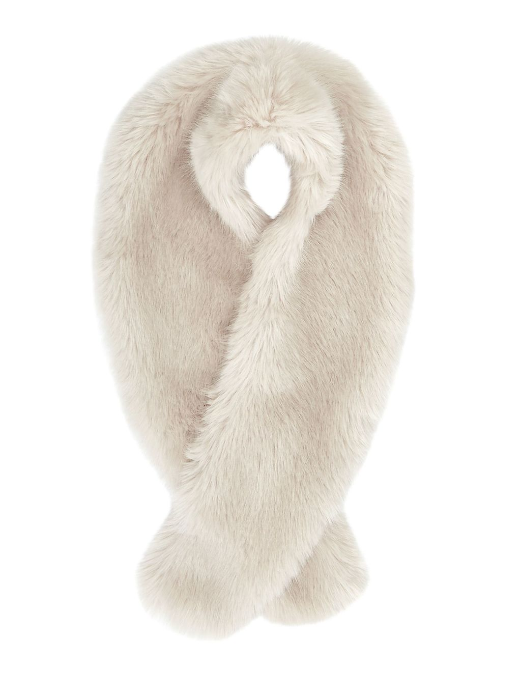 Serene Faux Fur Scarf, Off White - predominant colour: ivory/cream; occasions: casual, creative work; type of pattern: standard; size: standard; material: faux fur; pattern: plain; style: stole; wardrobe: basic; season: a/w 2016