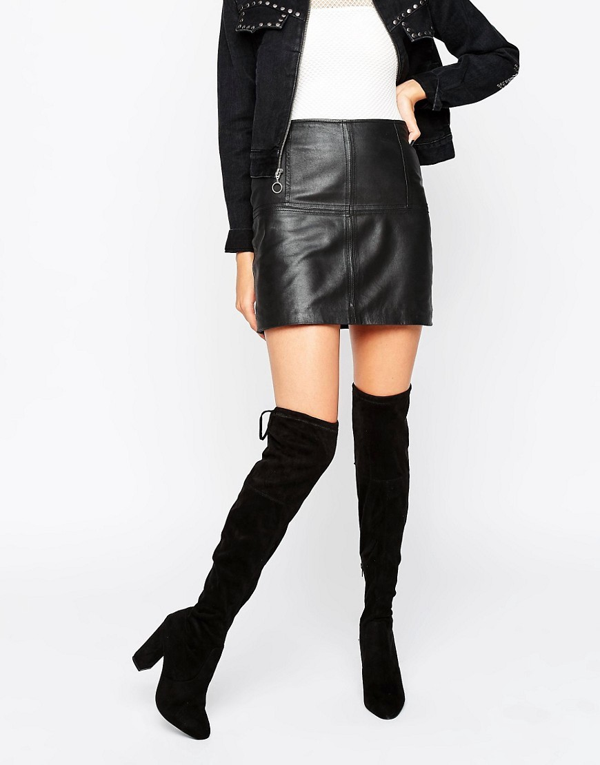 Sibyl Thigh High Suede Heeled Over The Knee Boots Black Suede - predominant colour: black; occasions: casual, creative work; material: suede; heel height: high; heel: standard; toe: round toe; boot length: over the knee; style: standard; finish: plain; pattern: plain; wardrobe: investment; season: a/w 2016