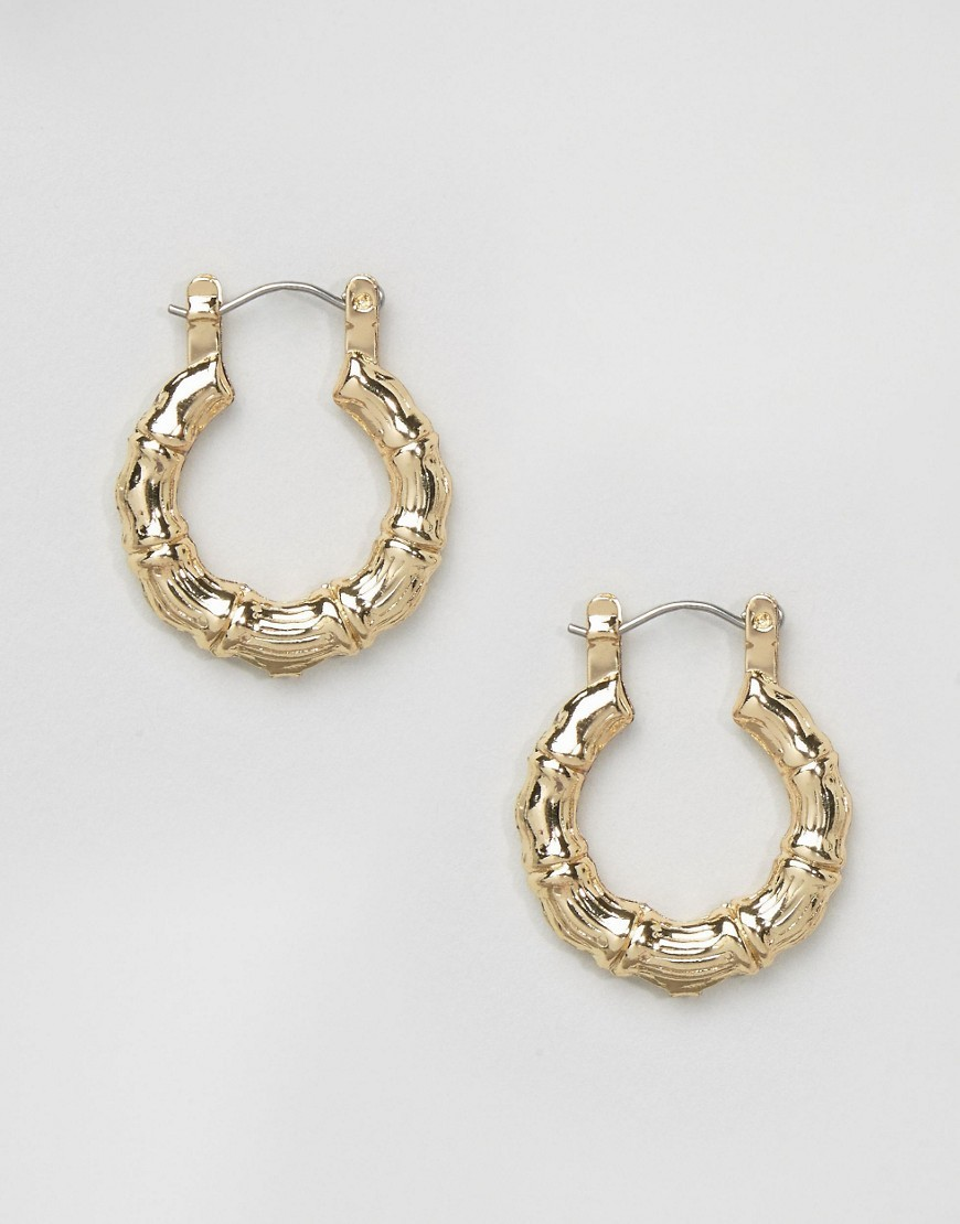Vintage Look 25mm Hoop Earrings Gold - predominant colour: gold; occasions: evening; style: hoop; length: mid; size: standard; material: chain/metal; fastening: pierced; finish: metallic; season: a/w 2016; wardrobe: event