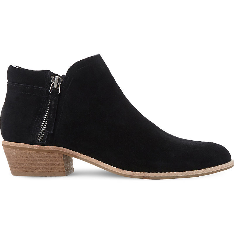 Tobii Zipped Suede Ankle Boots, Women's, Eur 37 / 4 Uk Women, Black Suede - predominant colour: black; occasions: casual; material: suede; heel height: mid; heel: block; toe: round toe; boot length: ankle boot; style: standard; finish: plain; pattern: plain; wardrobe: basic; season: a/w 2016