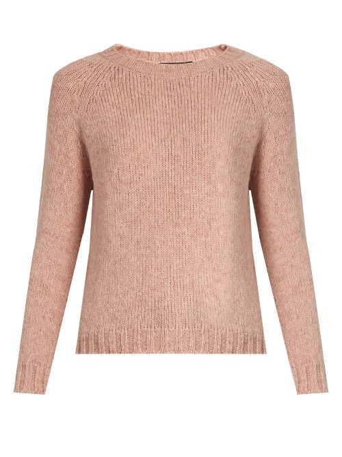 Polonia Sweater - pattern: plain; style: standard; predominant colour: blush; occasions: casual; length: standard; fibres: wool - mix; fit: standard fit; neckline: crew; sleeve length: long sleeve; sleeve style: standard; texture group: knits/crochet; pattern type: knitted - other; wardrobe: basic; season: a/w 2016