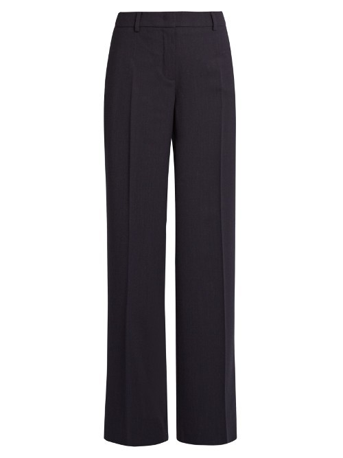 Tanga Trousers - length: standard; pattern: plain; waist: high rise; predominant colour: black; occasions: work; fibres: wool - stretch; fit: straight leg; pattern type: fabric; texture group: woven light midweight; style: standard; season: a/w 2016