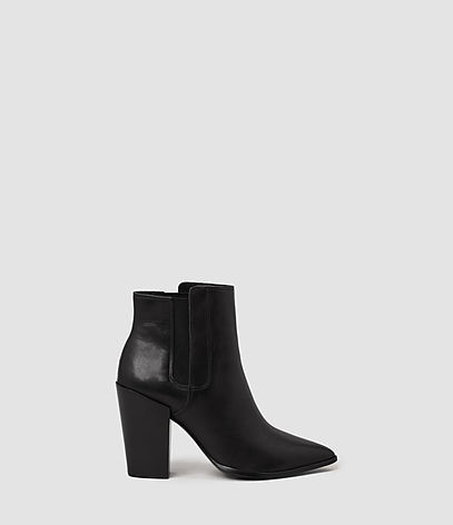 Senta Ankle Boot - predominant colour: black; occasions: work, creative work; material: leather; heel height: high; heel: block; toe: pointed toe; boot length: ankle boot; style: standard; finish: plain; pattern: plain; season: a/w 2016; wardrobe: highlight