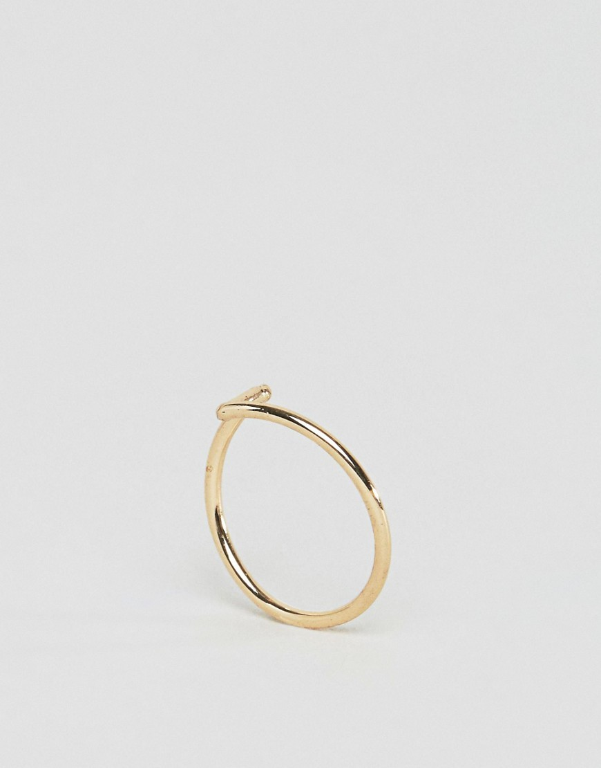 Fine Pinky Ring Gold - predominant colour: gold; occasions: casual; style: band; size: standard; material: chain/metal; finish: metallic; season: a/w 2016
