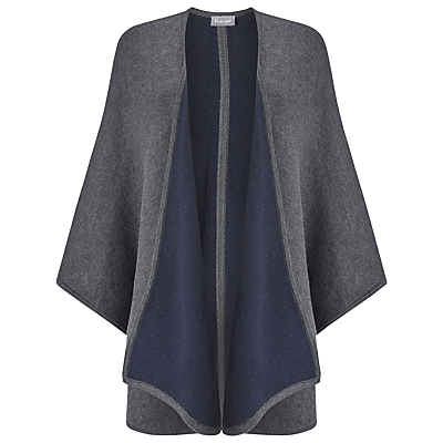 Fearne Cape - pattern: plain; collar: shawl/waterfall; fit: loose; style: cape; length: mid thigh; predominant colour: charcoal; occasions: casual, creative work; fibres: polyester/polyamide - mix; sleeve length: long sleeve; collar break: low/open; pattern type: fabric; pattern size: standard; texture group: woven bulky/heavy; sleeve style: cape/poncho sleeve; season: a/w 2016; wardrobe: highlight
