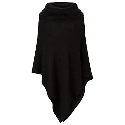Cashel Poncho, Black - pattern: plain; length: below the bottom; neckline: roll neck; style: poncho; predominant colour: black; occasions: casual; fibres: wool - mix; fit: loose; sleeve length: long sleeve; texture group: knits/crochet; pattern type: knitted - other; sleeve style: cape/poncho sleeve; season: a/w 2016; wardrobe: highlight
