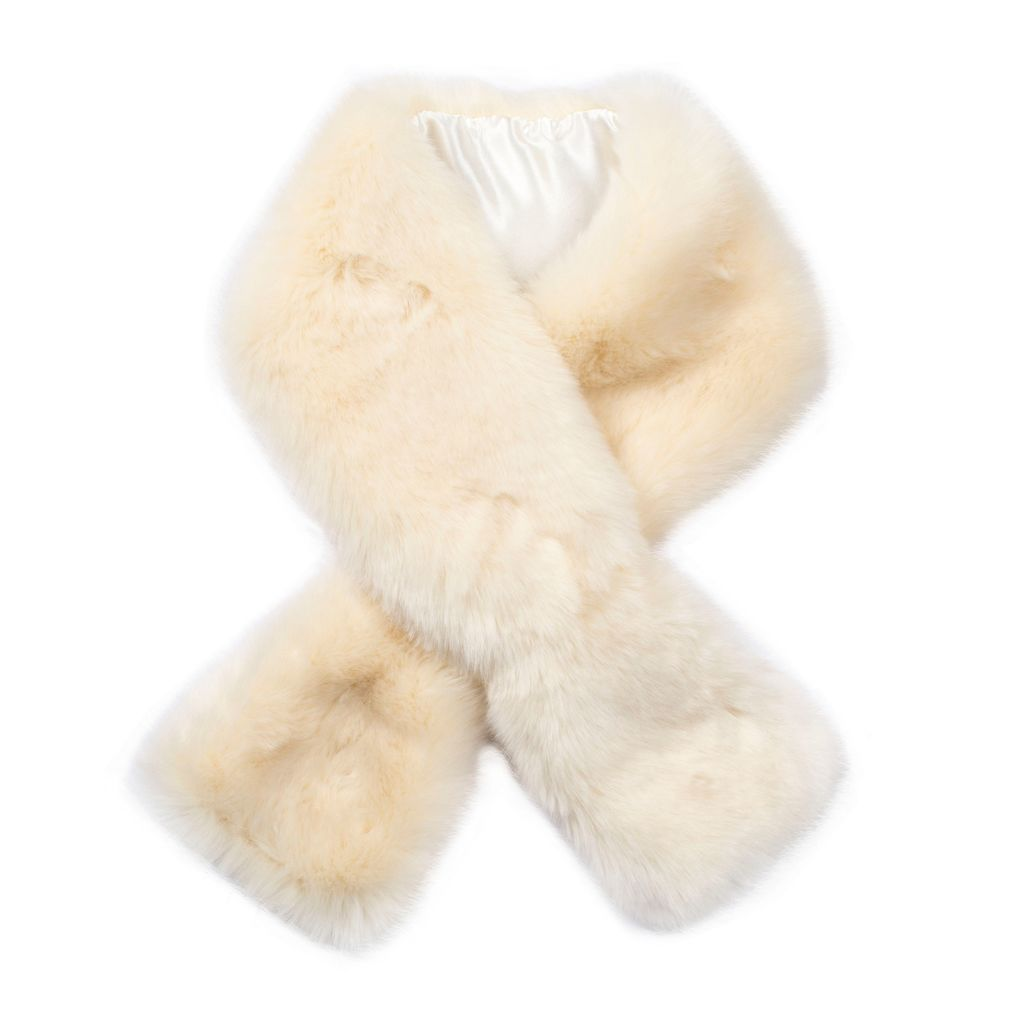 Womens Faux Fur Scarf, Grey - predominant colour: ivory/cream; occasions: casual, creative work; type of pattern: standard; size: standard; material: faux fur; pattern: plain; style: stole; wardrobe: basic; season: a/w 2016