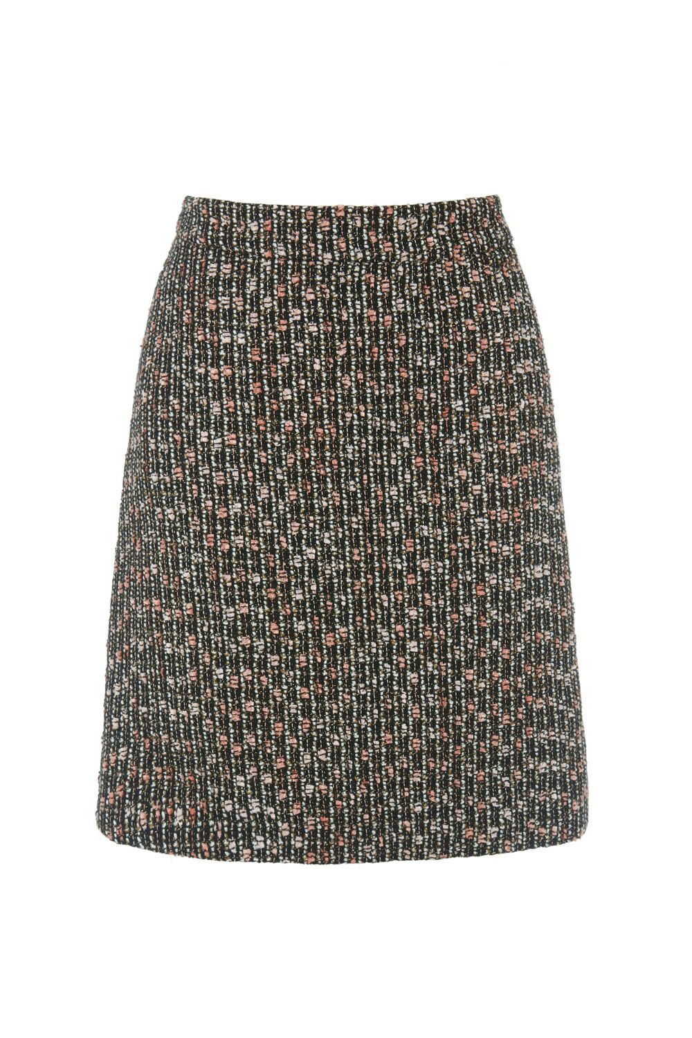 Sparkle Tweed Pelmet Skirt, Multi Coloured - style: pencil; fit: body skimming; waist: high rise; pattern: herringbone/tweed; predominant colour: charcoal; occasions: work, creative work; length: just above the knee; fibres: acrylic - mix; pattern type: fabric; texture group: tweed - light/midweight; pattern size: big & busy (bottom); multicoloured: multicoloured; season: a/w 2016; wardrobe: highlight