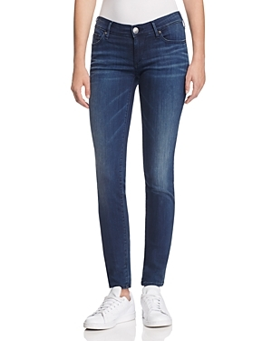 Stella Skinny Jeans In Foggy - style: skinny leg; length: standard; pattern: plain; pocket detail: pockets at the sides; waist: mid/regular rise; predominant colour: navy; occasions: casual; fibres: cotton - stretch; jeans detail: whiskering; texture group: denim; pattern type: fabric; wardrobe: basic; season: a/w 2016