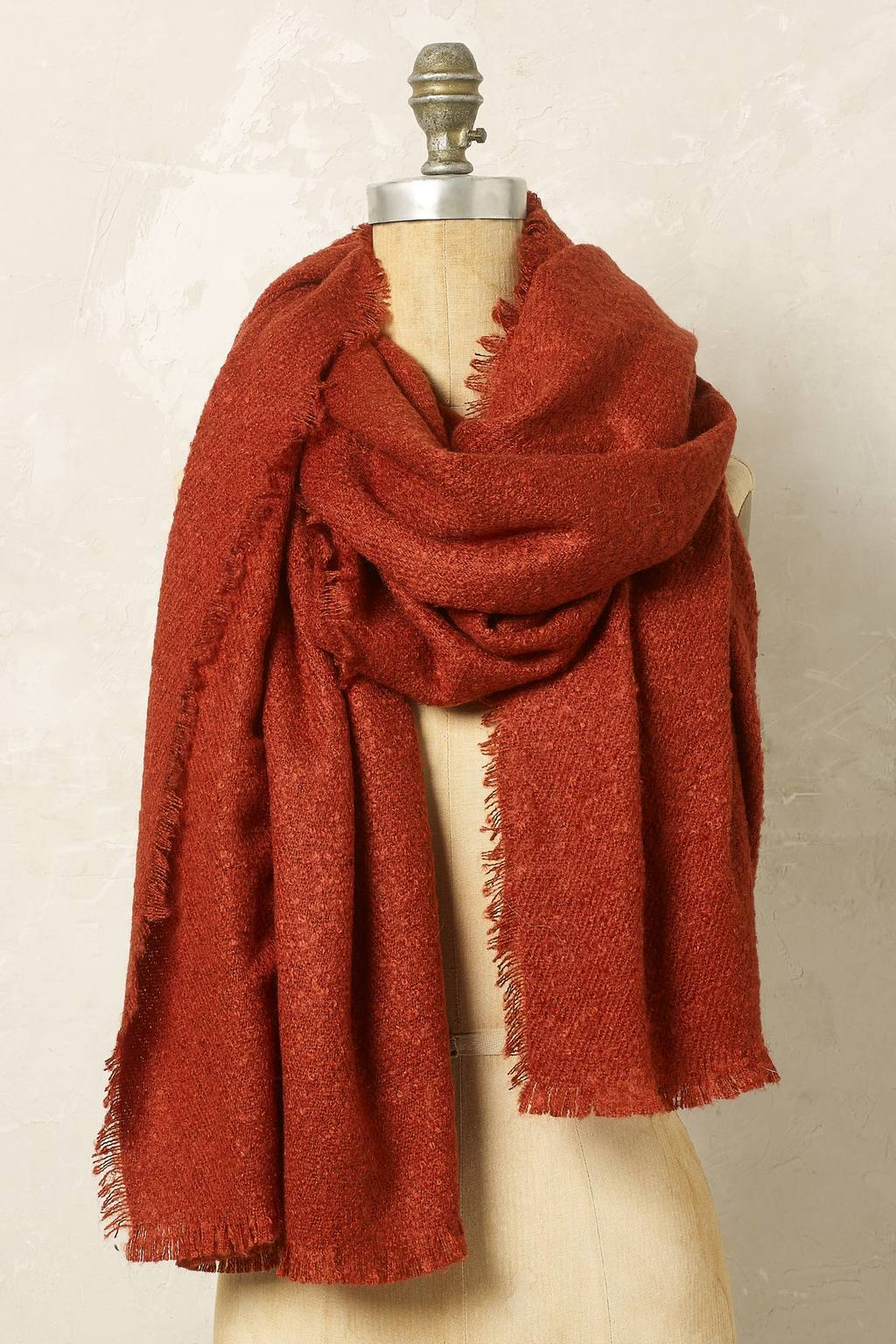 Lea Boucle Scarf - predominant colour: tan; occasions: casual; type of pattern: standard; style: regular; size: large; material: fabric; pattern: plain; season: a/w 2016; wardrobe: highlight