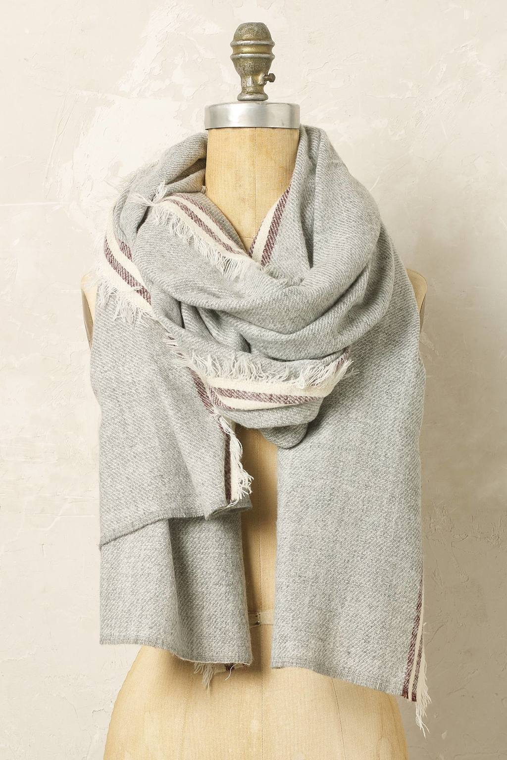 Brandon Scarf - predominant colour: light grey; occasions: casual; type of pattern: standard; style: regular; size: large; material: knits; pattern: plain; season: a/w 2016