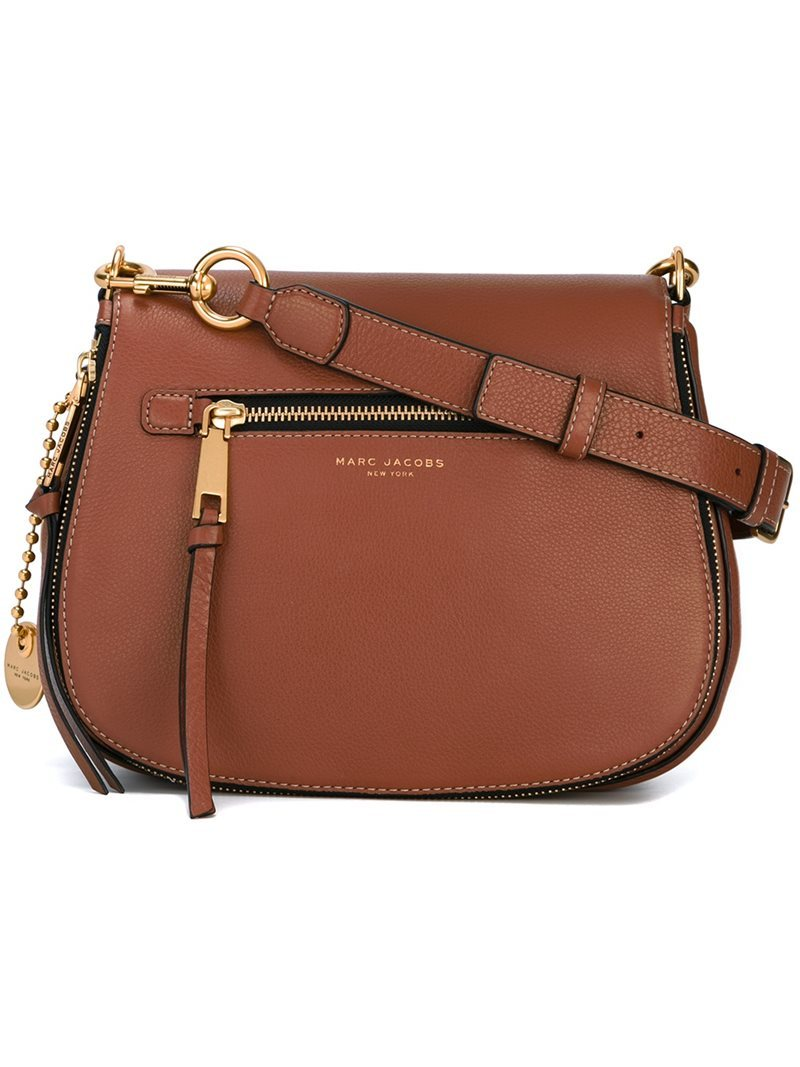 'recruit' Saddle Crossbody Bag, Women's, Brown - predominant colour: tan; occasions: casual, creative work; type of pattern: standard; style: saddle; length: across body/long; size: standard; material: leather; pattern: plain; finish: plain; season: a/w 2016; wardrobe: highlight