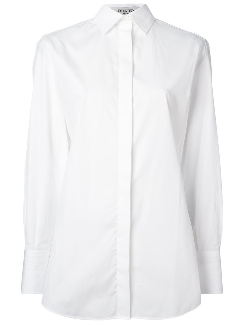 Classic Shirt, Women's, White - neckline: shirt collar/peter pan/zip with opening; pattern: plain; style: shirt; predominant colour: white; occasions: work; length: standard; fibres: cotton - 100%; fit: tailored/fitted; sleeve length: long sleeve; sleeve style: standard; texture group: cotton feel fabrics; pattern type: fabric; wardrobe: basic; season: a/w 2016