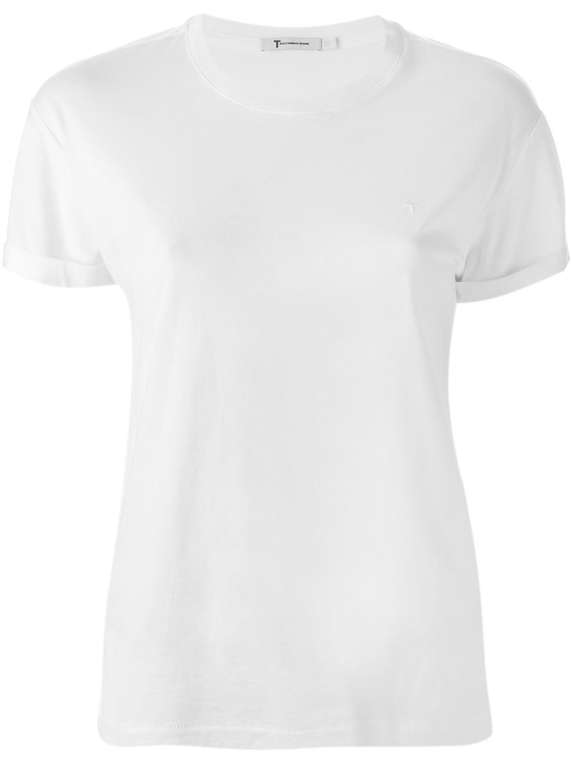 Round Neck T Shirt, Women's, Size: Small, White - neckline: round neck; pattern: plain; style: t-shirt; predominant colour: white; occasions: casual; length: standard; fibres: cotton - 100%; fit: body skimming; sleeve length: short sleeve; sleeve style: standard; pattern type: fabric; texture group: jersey - stretchy/drapey; wardrobe: basic; season: a/w 2016