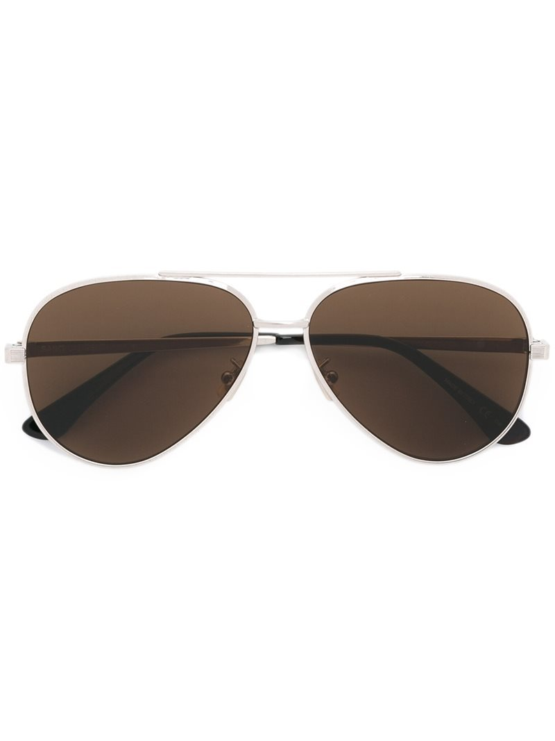 'classic 11 Zero' Sunglasses, Women's, Grey - predominant colour: charcoal; occasions: casual, holiday; style: aviator; size: standard; material: chain/metal; pattern: plain; finish: plain; wardrobe: basic; season: a/w 2016