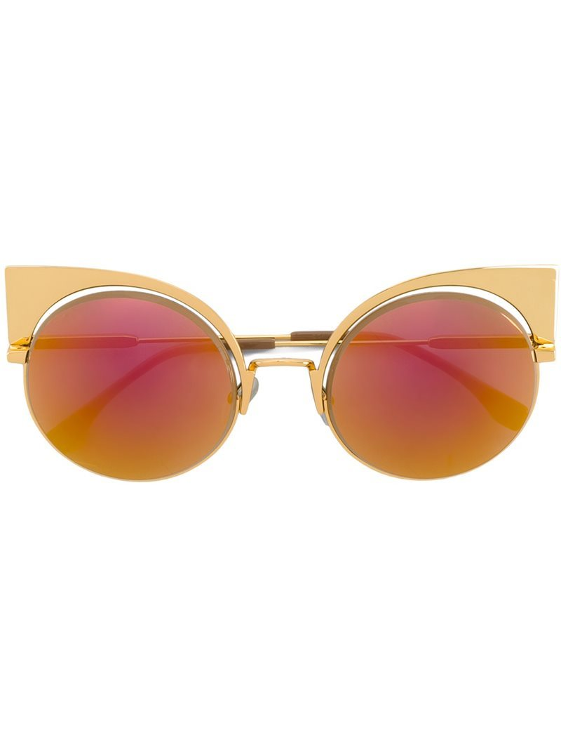 'eyeshine' Sunglasses, Women's, Pink - predominant colour: pink; occasions: casual, holiday; style: cateye; size: standard; material: plastic/rubber; pattern: plain; finish: plain; multicoloured: multicoloured; season: a/w 2016