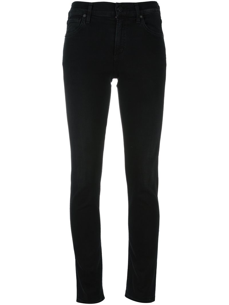 Skinny High Rise Jeans, Women's, Black - style: skinny leg; length: standard; pattern: plain; waist: high rise; pocket detail: traditional 5 pocket; predominant colour: black; occasions: casual, creative work; fibres: cotton - stretch; texture group: denim; pattern type: fabric; wardrobe: basic; season: a/w 2016